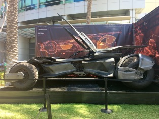 The Batmobile. I miss the Dark Knight version.
