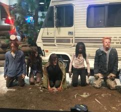 """The Walking Dead"" display."