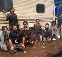 """""""The Walking Dead"""" display. Find the real dude who's ruining my pic."""