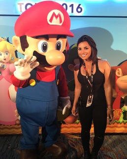 Me and the homie Mario at the Nintendo Lounge.